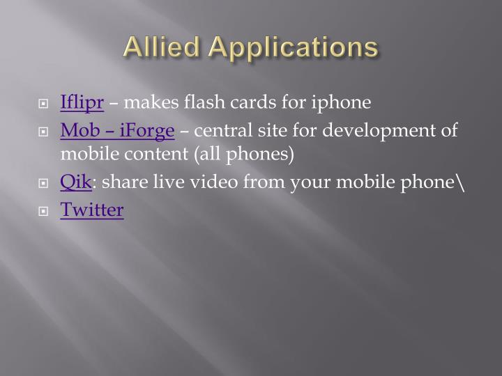 Allied Applications