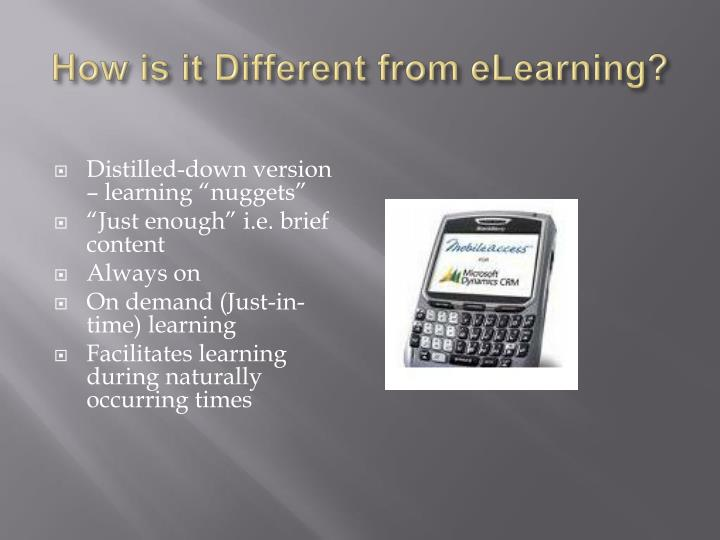 How is it Different from eLearning?