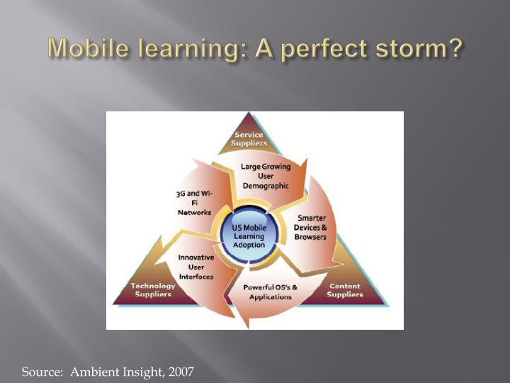 Mobile learning: A perfect storm?