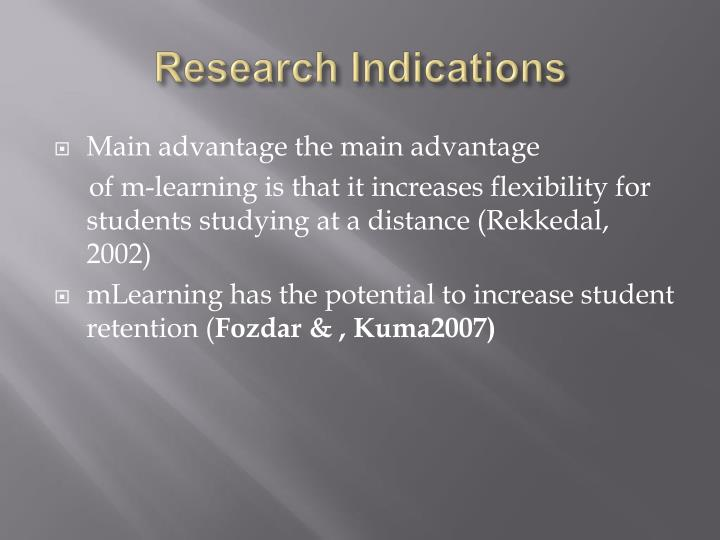 Research Indications