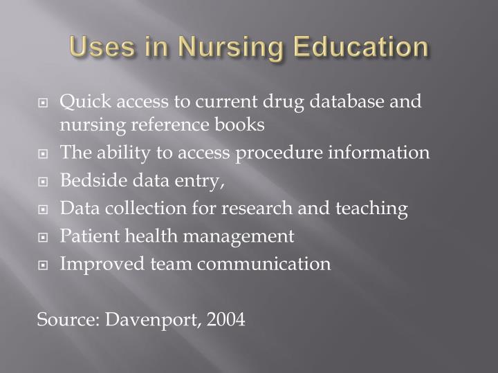 Uses in Nursing Education