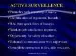 active surveillence