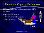 functional capacity evaluations