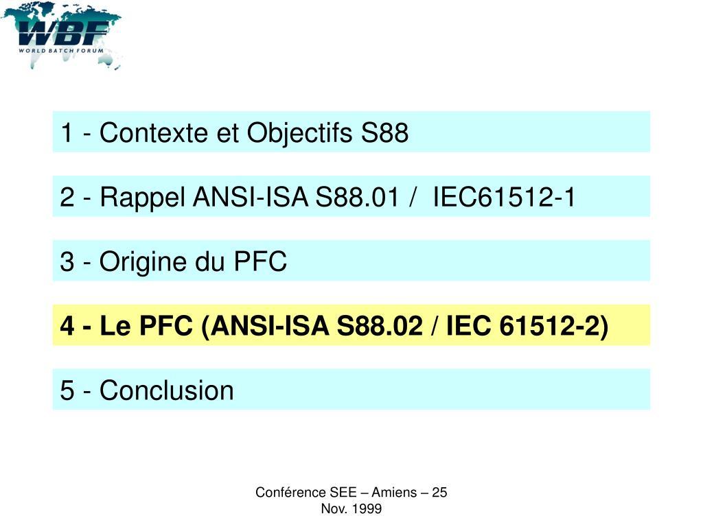 1 - Contexte et Objectifs S88
