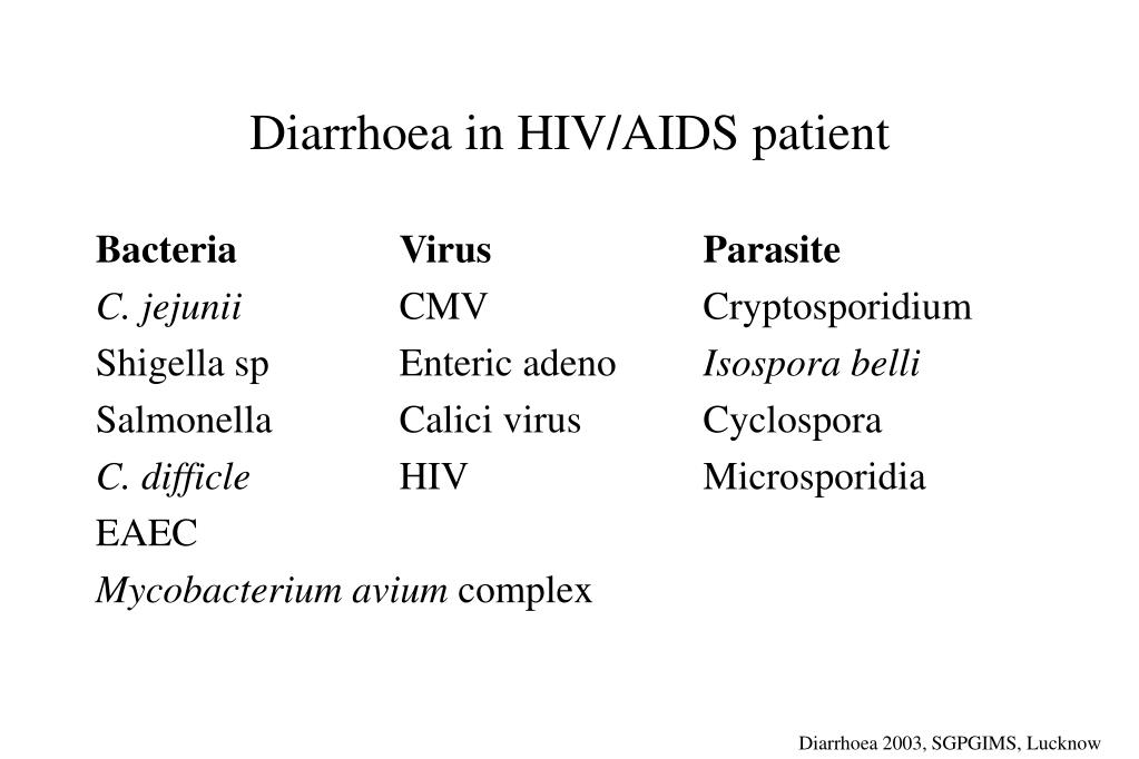 Diarrhoea in HIV/AIDS patient