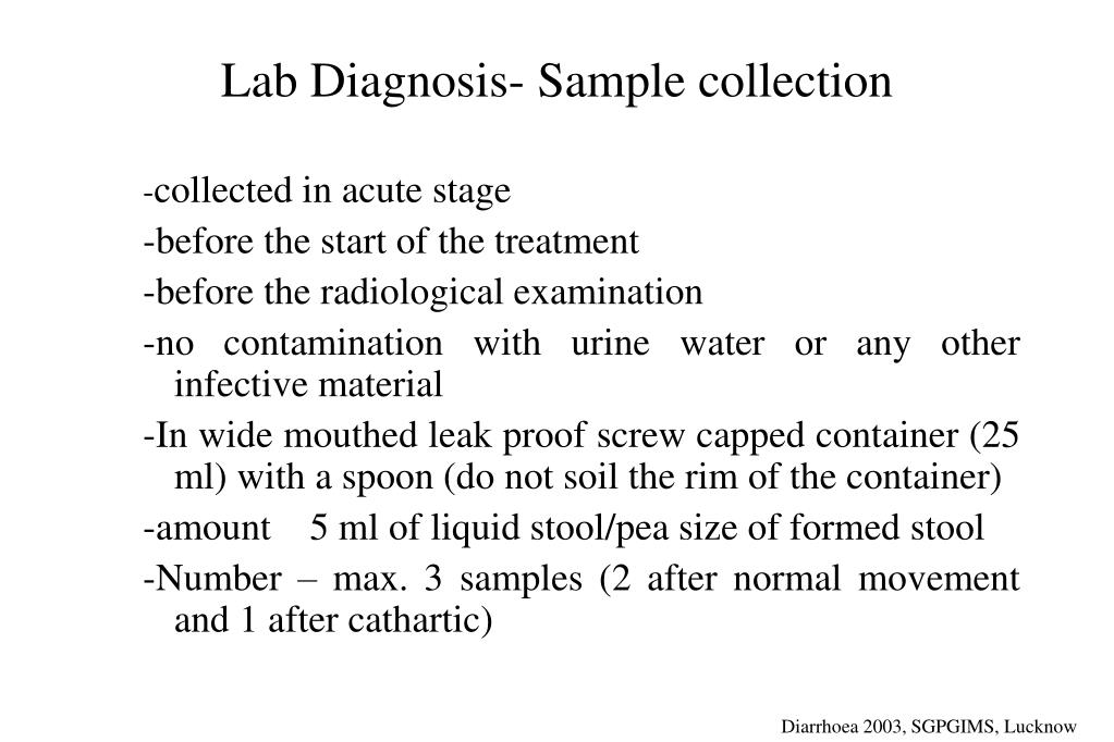 Lab Diagnosis- Sample collection