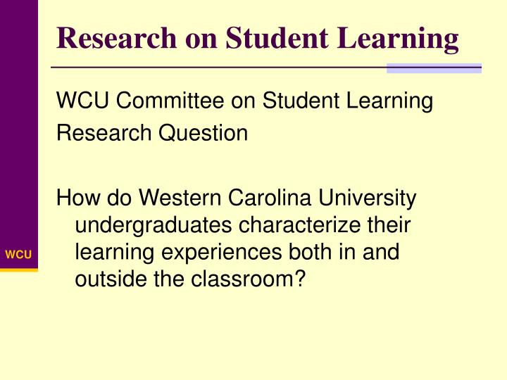 Research on Student Learning