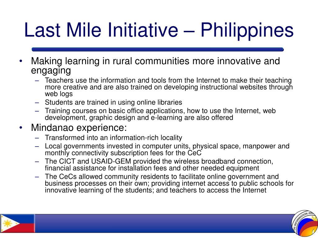 Last Mile Initiative – Philippines