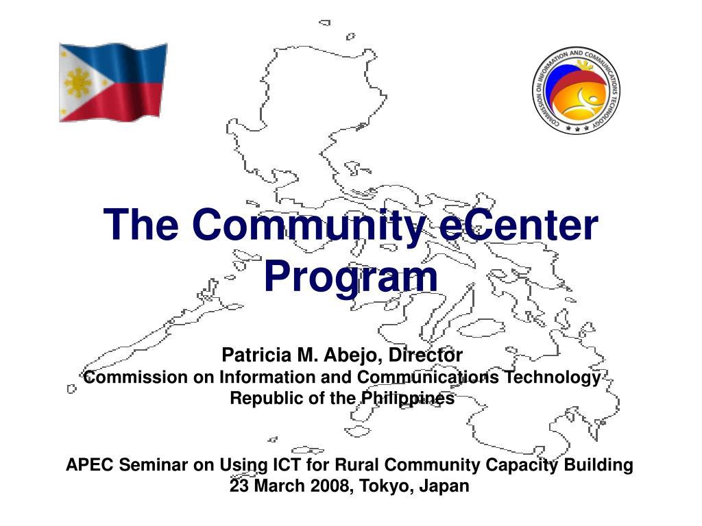 The Community eCenter Program