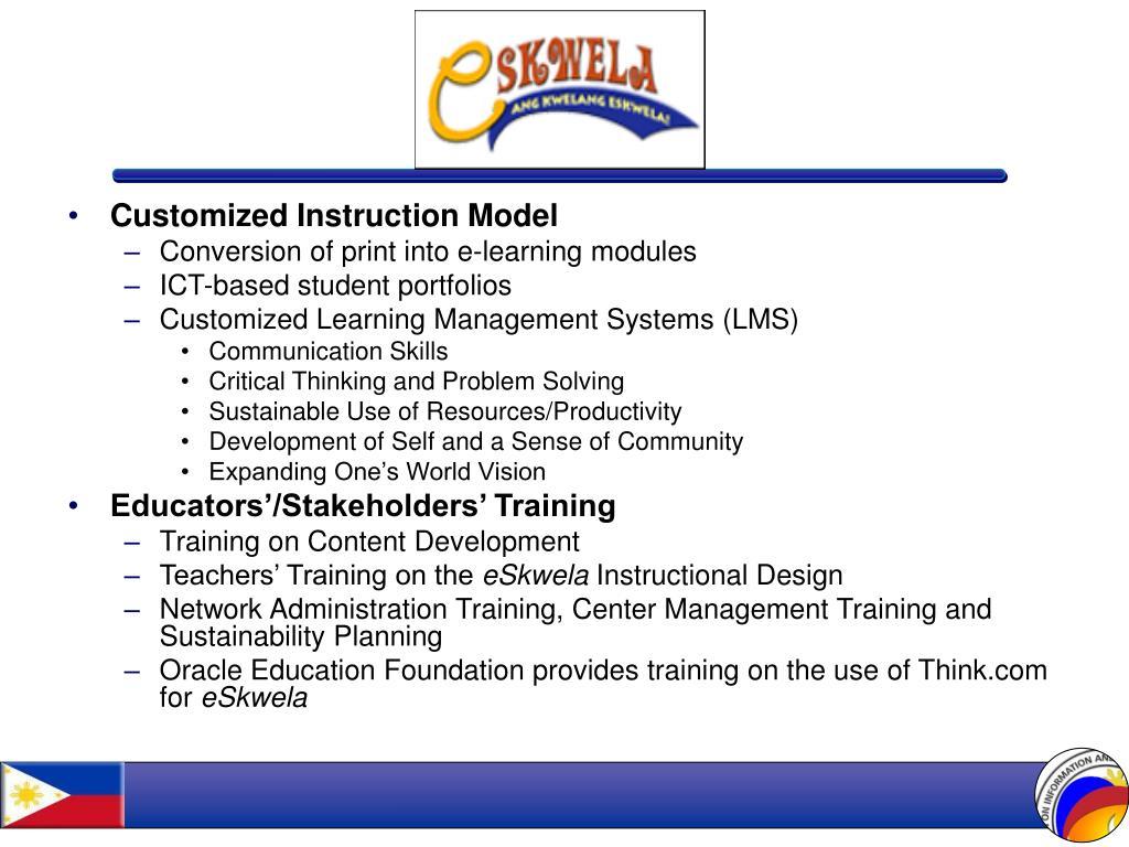 Customized Instruction Model