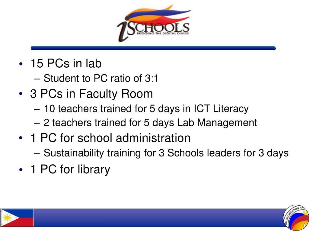 15 PCs in lab