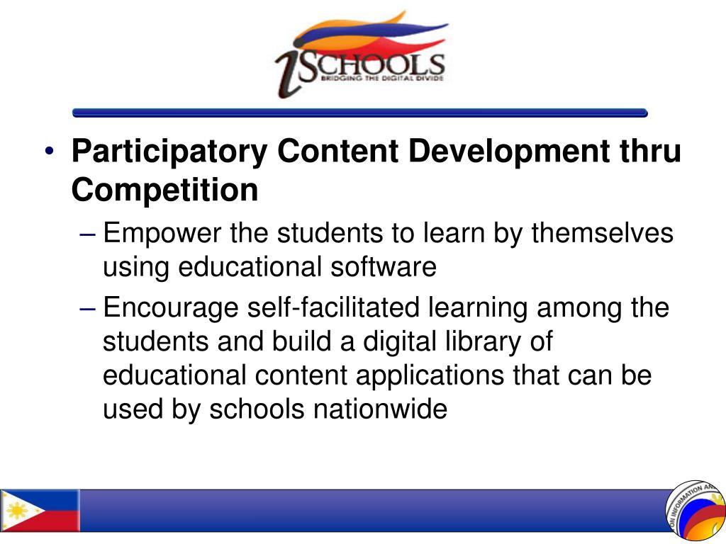 Participatory Content Development thru Competition