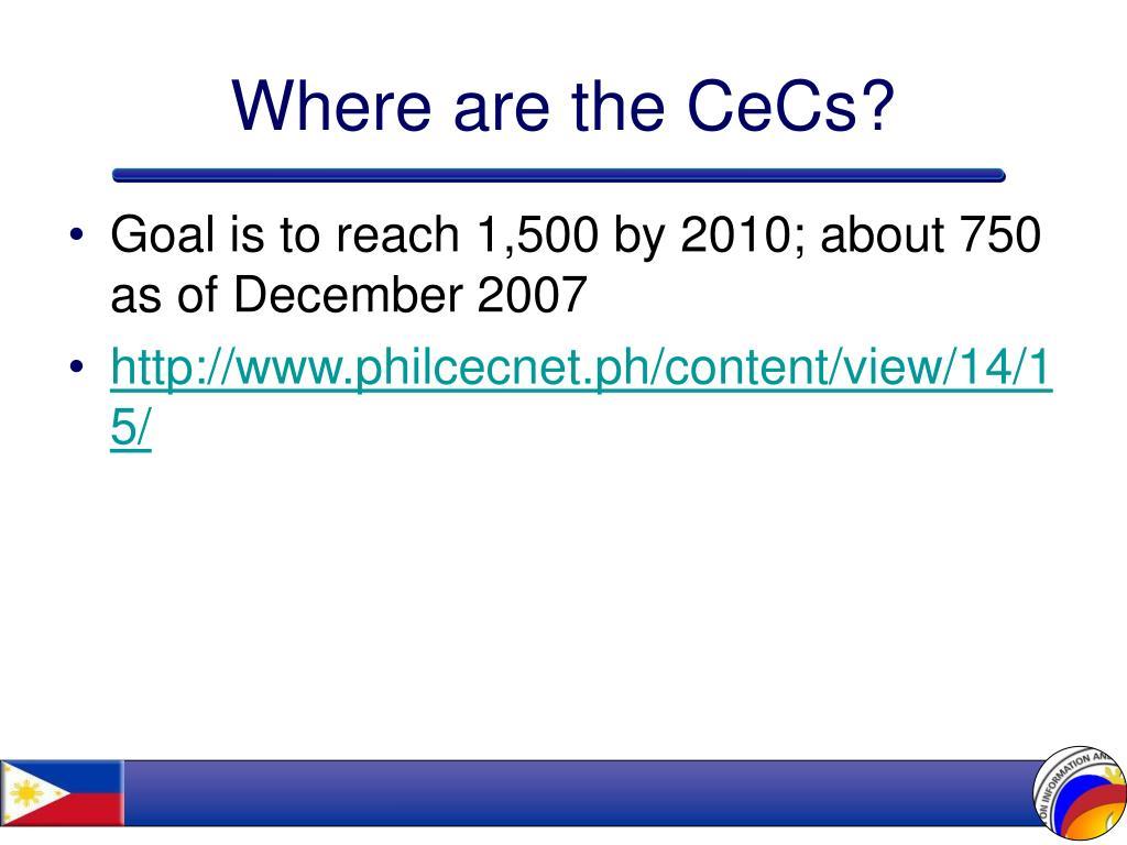 Where are the CeCs?