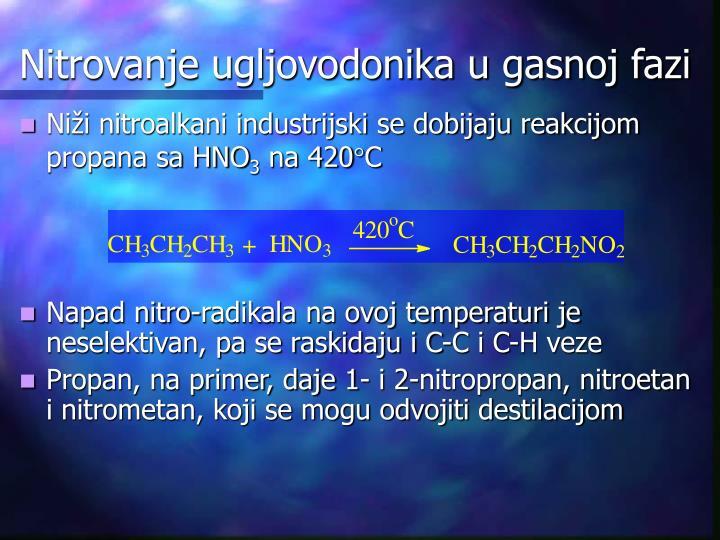 Nitrovanje ugljovodonika u gasnoj fazi