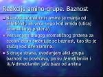 reakcije amino grupe baznost