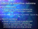 reakcije sa aldehidima i ketonima