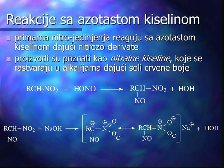 Reakcije sa azotastom kiselinom