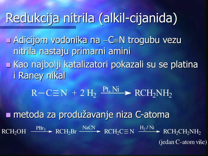 Redukcija nitrila (alkil-cijanida)