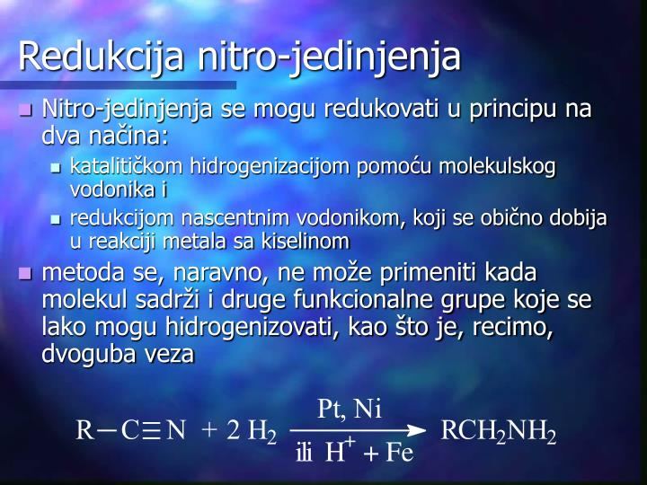 Redukcija nitro-jedinjenja