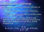 redukcija nitro jedinjenja