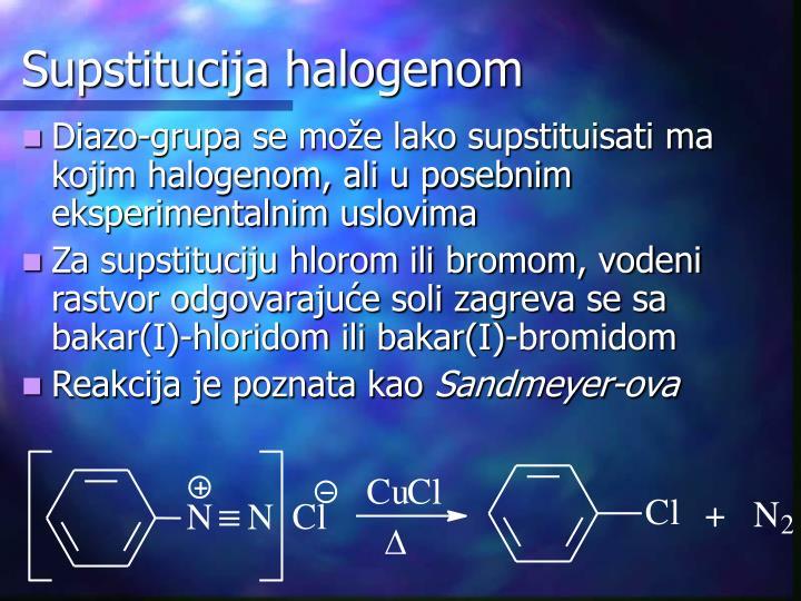 Supstitucija halogenom