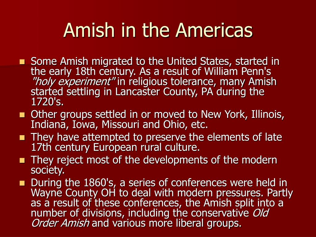 Amish in the Americas