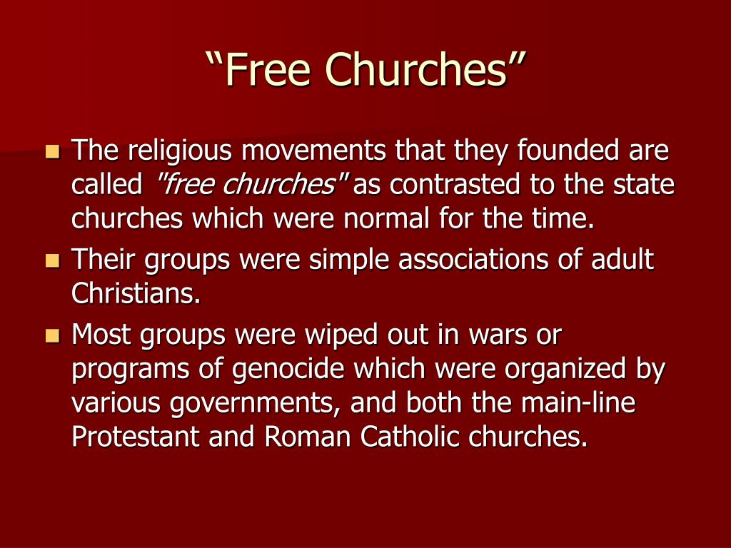 """Free Churches"""