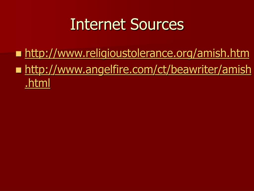 Internet Sources
