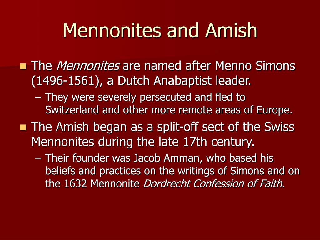 Mennonites and Amish