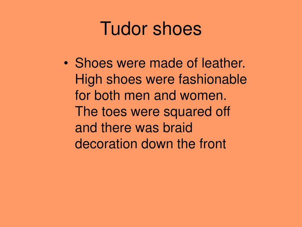 Tudor shoes