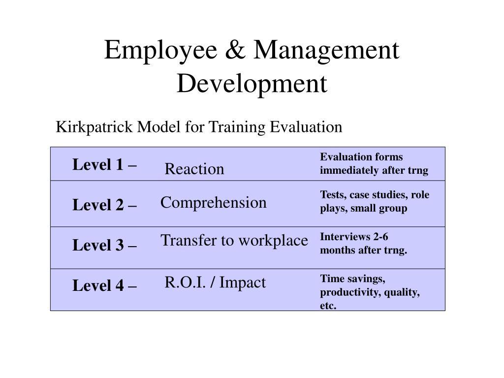 Employee & Management Development