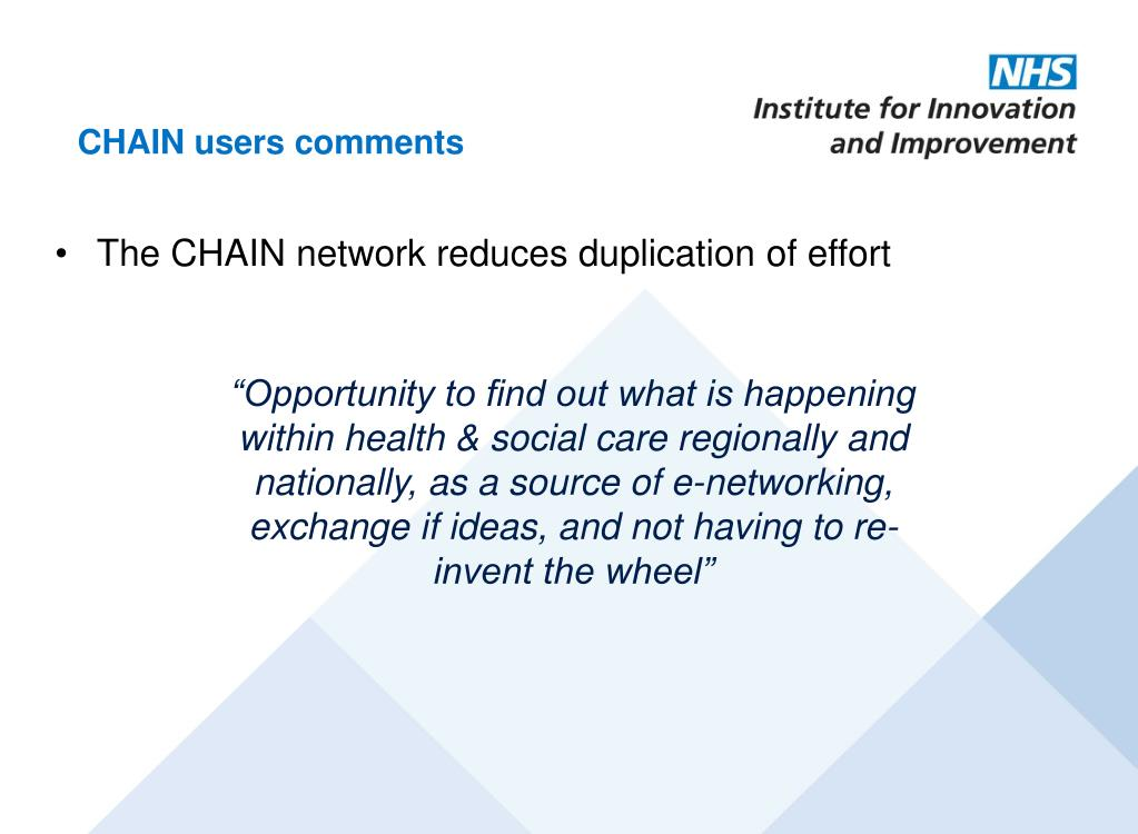 CHAIN users comments
