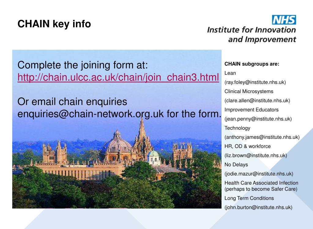 CHAIN key info