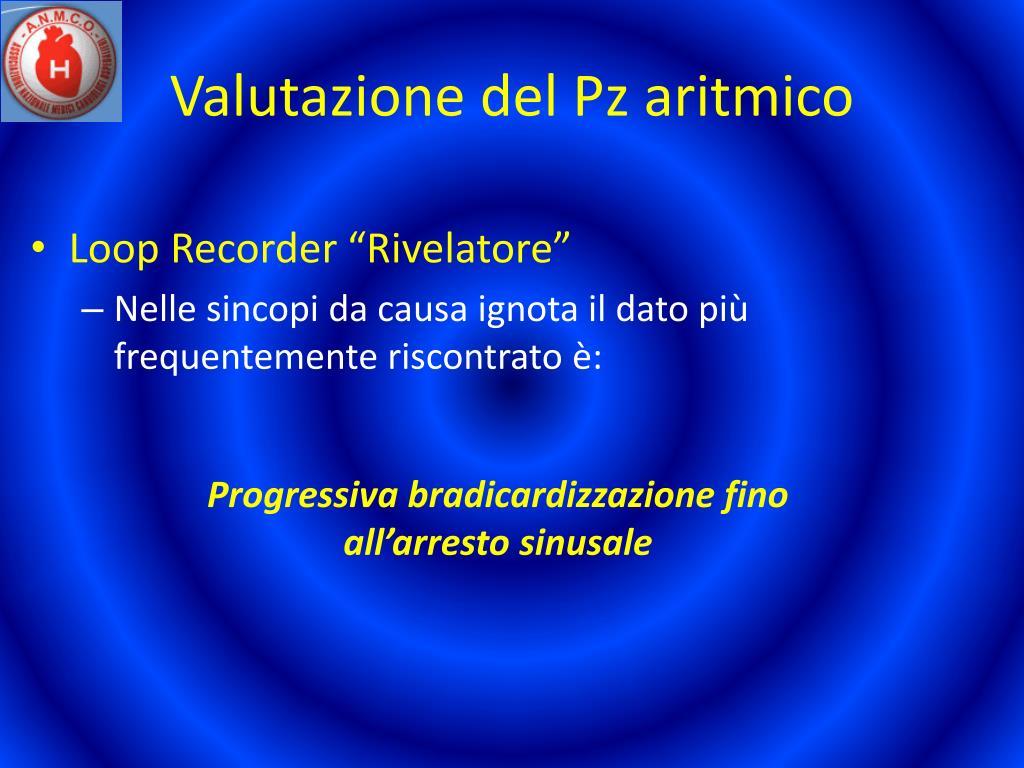 Valutazione del Pz aritmico