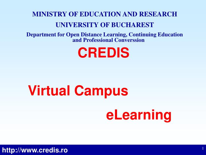 MINISTRY OF EDUCATION AND RESEARCH