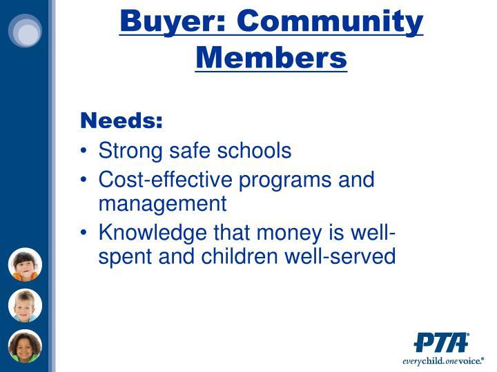 Buyer: Community Members
