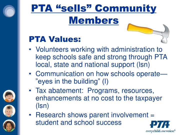 "PTA ""sells"" Community Members"