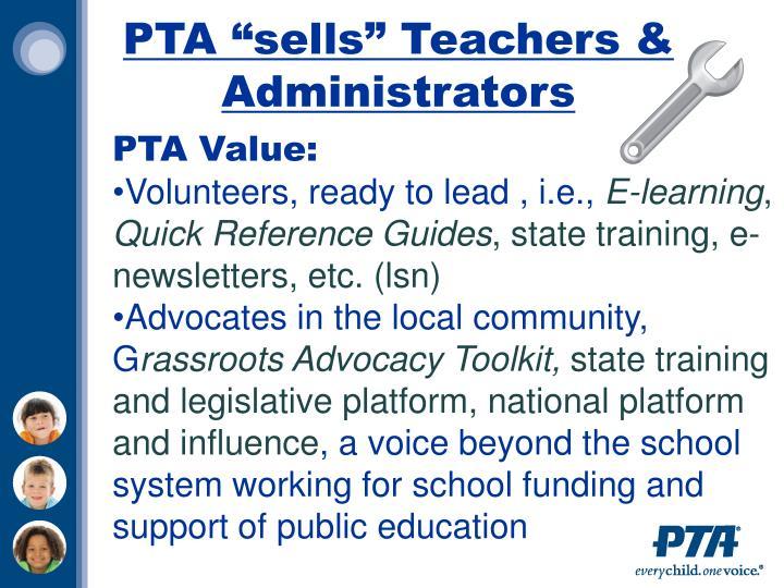 """PTA """"sells"""" Teachers & Administrators"""