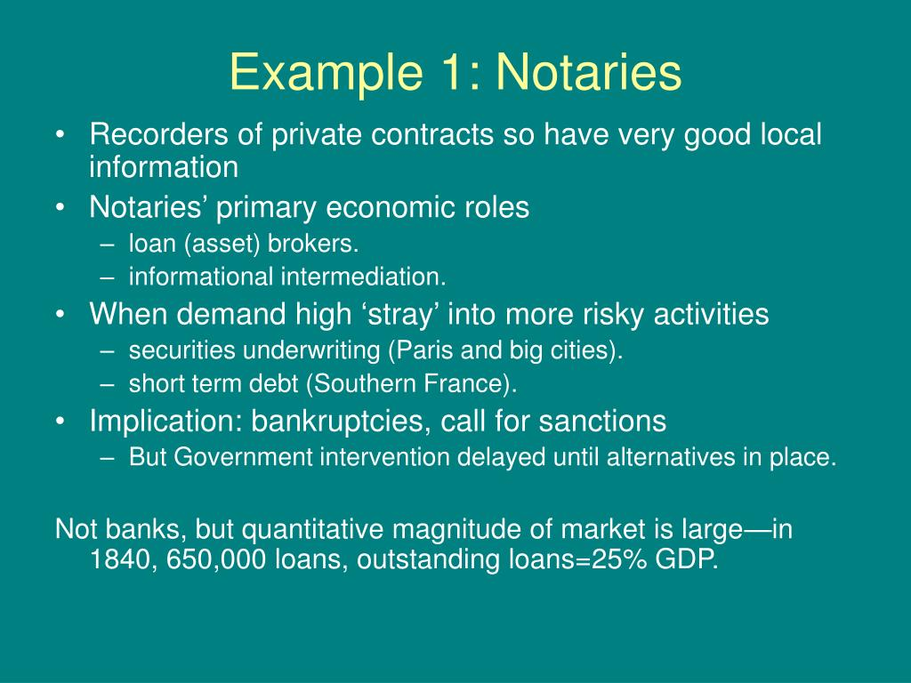 Example 1: Notaries