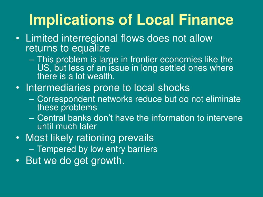 Implications of Local Finance