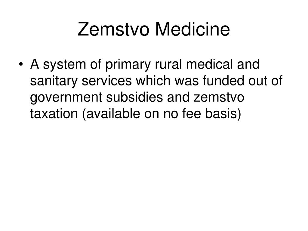 Zemstvo Medicine