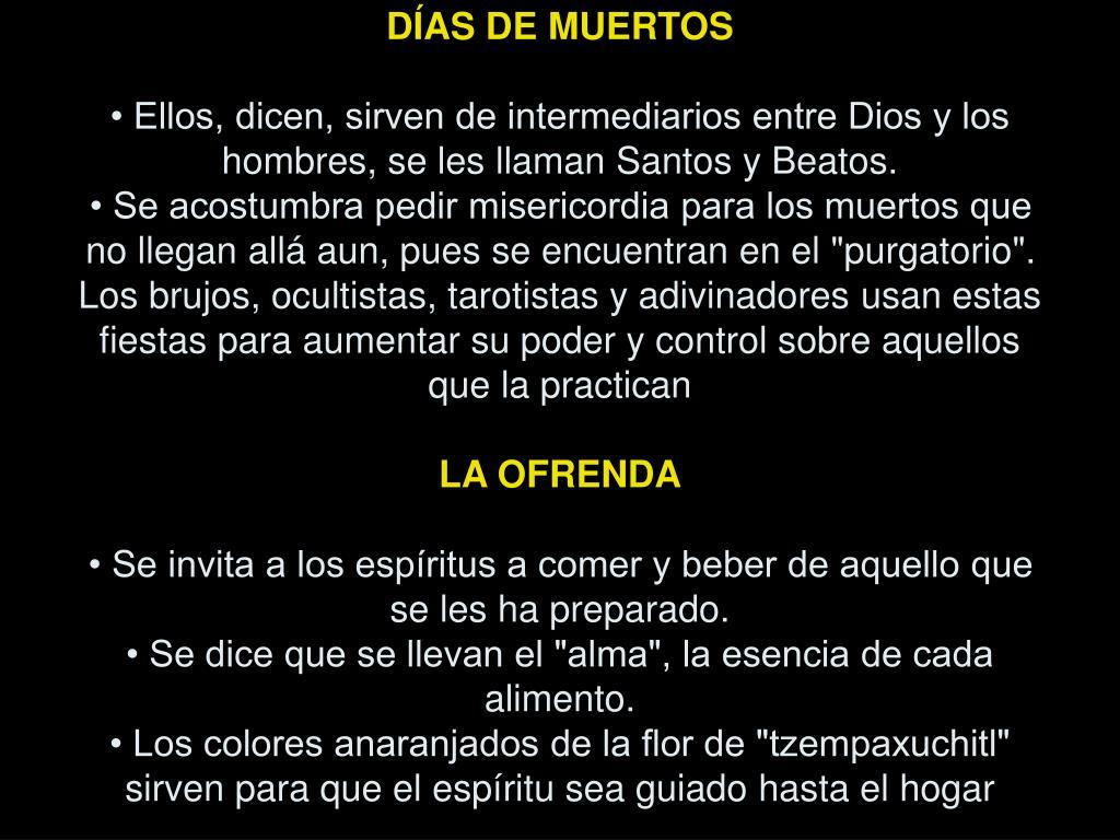 DÍAS DE MUERTOS