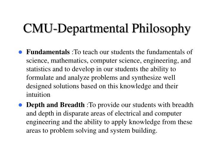 CMU-Departmental Philosophy
