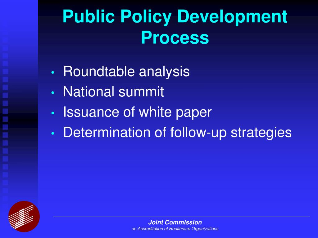 analysis of public policy process in The final stage in the public policy process, known as evaluation, is typically ongoing  using all six steps of policy analysis process, unpack the .