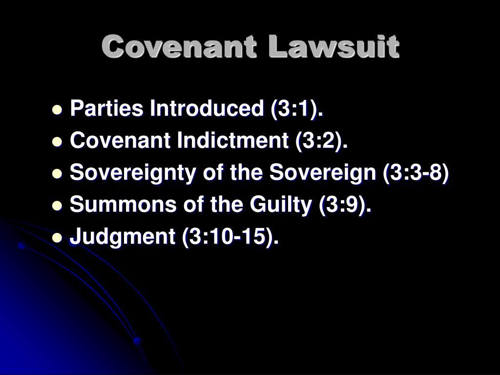 Covenant Lawsuit