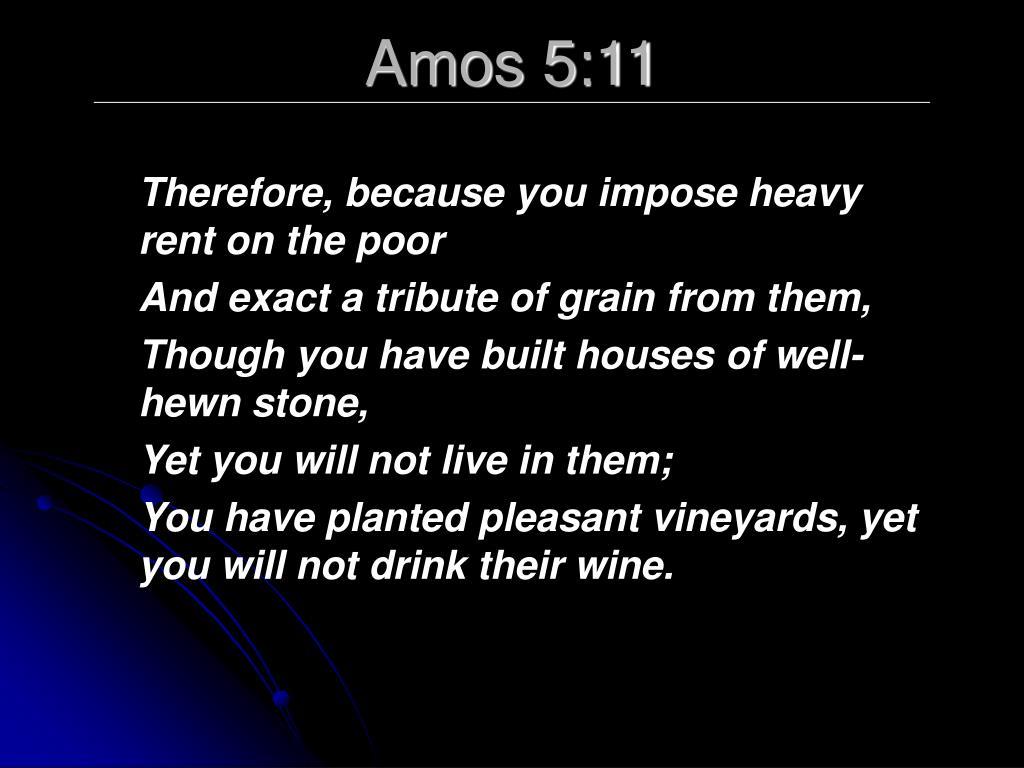 Amos 5:11