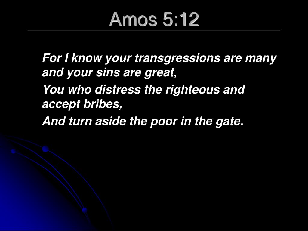 Amos 5:12