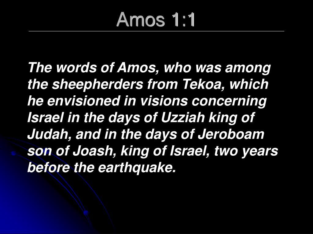 Amos 1:1