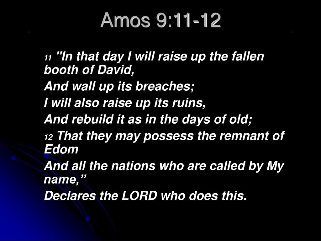 Amos 9:11-12
