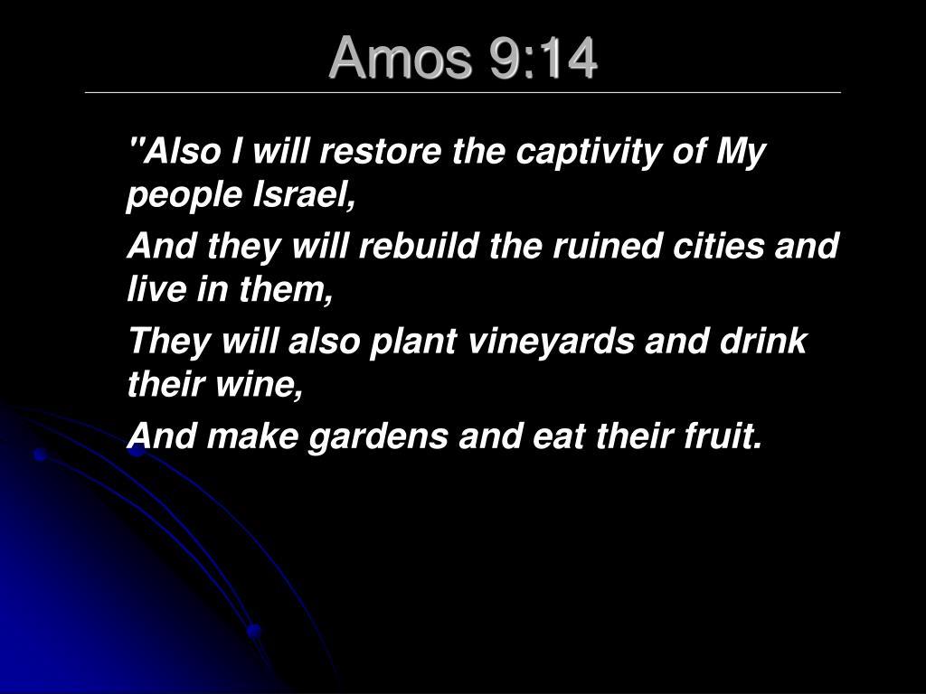 Amos 9:14